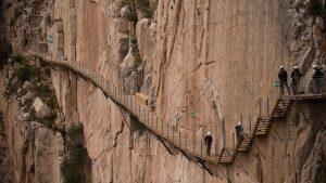 hiking in Caminito del Rey, Malaga