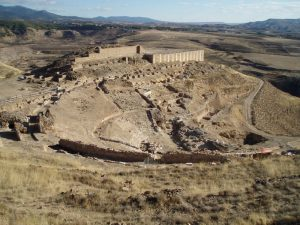 the Ancient Roman city of Bilbilis in Calatayud town