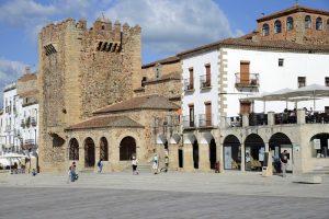 Cáceres town in Extremadura region