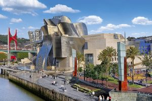 The Guggenheim Museum Bilbao in The Basque Country Spain