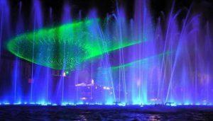 Illuminated Fountain in Salou